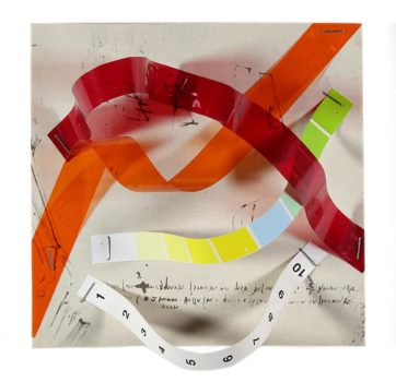 collage by American abstract artist Don Lewallen