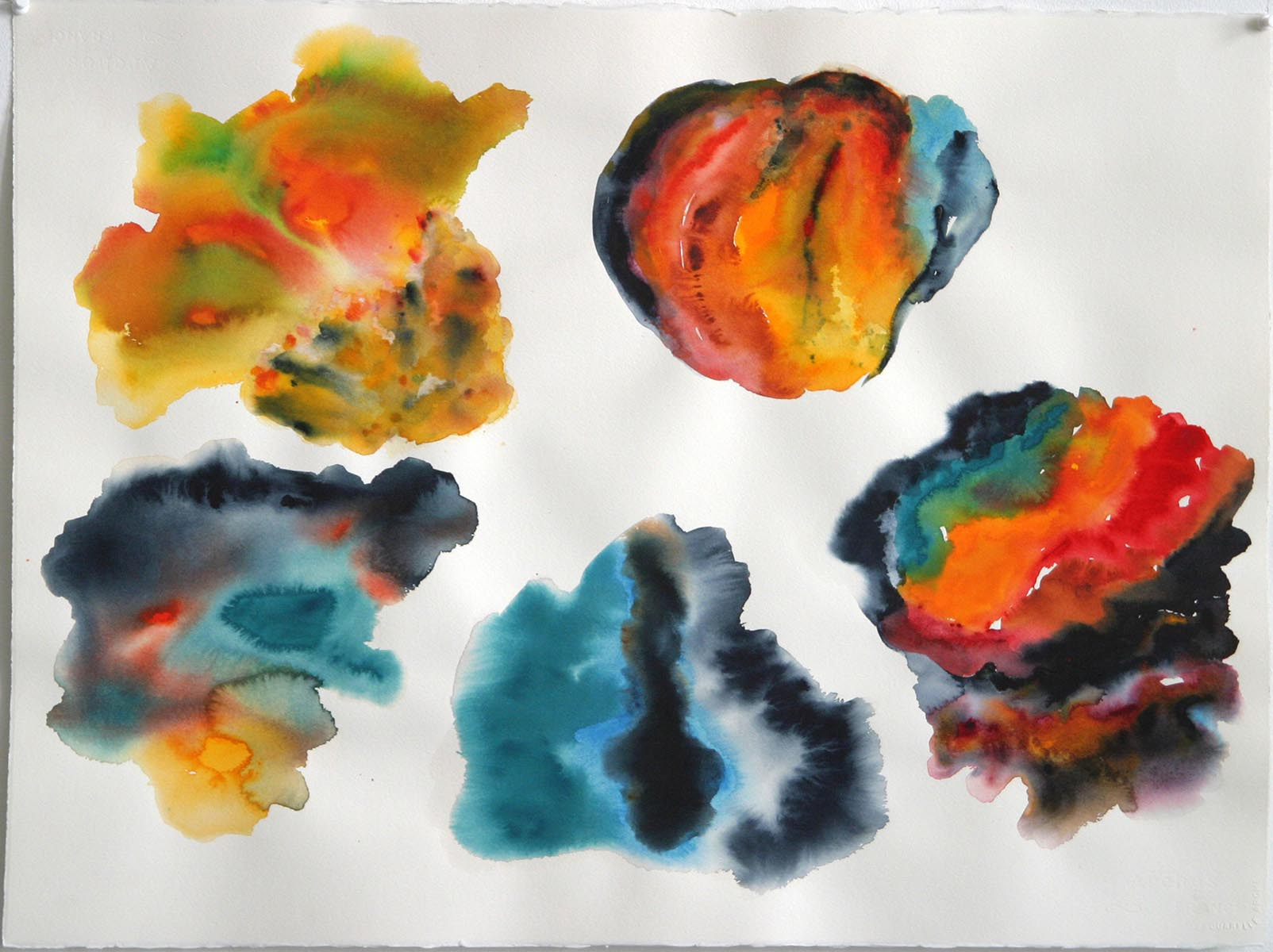 watercolor by American abstract artist Don Lewallen